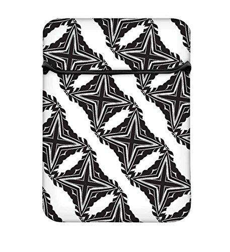 Snoogg grau Sterne 25,4cm einfachen Zugang Gepolstertes Laptop Schutzhülle Flip Sleeve Tasche