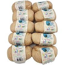 10 x 50 g de Lana de Lana Alize Baby con 20% Bambú y 40