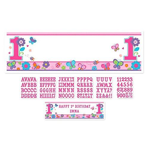 Amscan festone gigante personalizzabile per 1° compleanno, da bambina