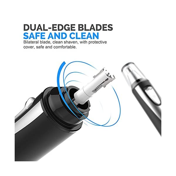 Leesgel Electric Ear Nose Hair Trimmer For Men Women Painless Trimming Nostril Nasal Hair Clippers Trimmers Remover WetDry Battery Operated