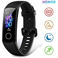 """HONOR Band 5 Fitness Trackers Activity Trackers Real-time Heart-rate Monitor AMOLED Color Display 0.95"""" Smart Watch Sleep Monitor 50M Depth Waterproof Bluetooth 4.2, Black"""