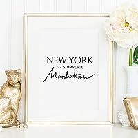 Kunstdruck, Sprüche Poster: New York | Hochwertiges und festes Premiumpapier | Ohne Rahmen