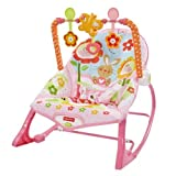 Fisher-Price - Hamaca crece conmigo, monitos divertidos, color rosa (Mattel Y8184)