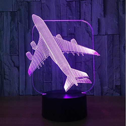 Veilleuse Pour Enfants Veilleuse Led 3D Avions Avions Avions De Combat Modèle Créative Veilleuse Touch Touch Jet Plan De Bureau Lampe Led Illusion Lampe Lampe De Chevet Cool Toy