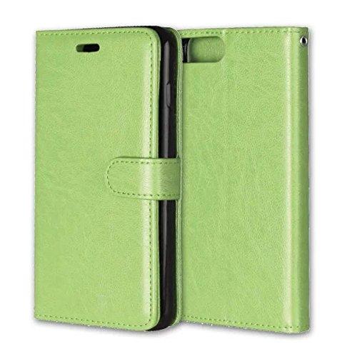 iPhone Case Cover Normallack-horizontale Wölbungs-erstklassiger PU-lederner Schlag-Standplatz-Fall mit 3 Karten Bargeldschlitz und Foto-Feld für IPhone 7 ( Color : Red , Size : IPhone 7 ) Green