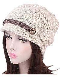 BHYDRY Mujer Francesa Sombreros de Mujer Lana Vintage Fiesta Invierno  Clásico Gorro Mujeres Caliente Beret Francés b6cd382340d
