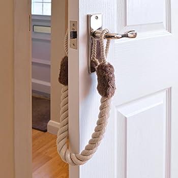 Doorstop Rope Set of 2 Fits to Door Handles Stops Doors Slamming Shut & Doorstop Rope Set of 2 Fits to Door Handles Stops Doors Slamming ...