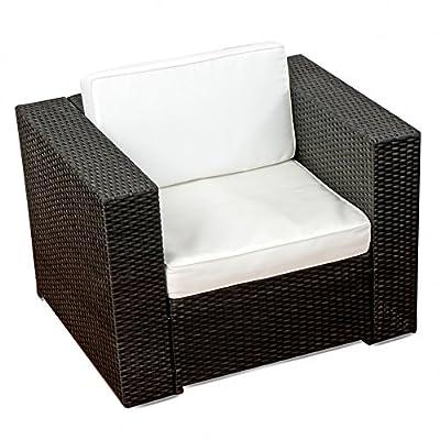 erweiterbare Gartenmöbel Polyrattan Lounge Möbel Set - schwarz von XINRO bei Gartenmöbel von Du und Dein Garten