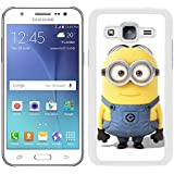 Funda carcasa para Samsung Galaxy J5 dibujo minion borde blanco