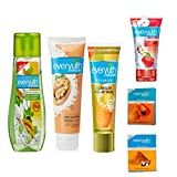 EVERYUTH NATURALS TULSI TURMERIC FACE WASH 100 GM + EVERYUTH NATURALS FRUIT FACE WASH 50 GM + EVERYUTH NATURALS EXFOLIATING WALNUT FACE SCRUB 100 GM + EVERYUTH NATURALS PAPAYA FACE PACK 25 GM + EVERYUTH NATURALS HALDI CHANDAN FACE PACK 25 GM + EVERYUTH NATURALS GOLDEN GLOW PEEL-OFF MASK 90 GM