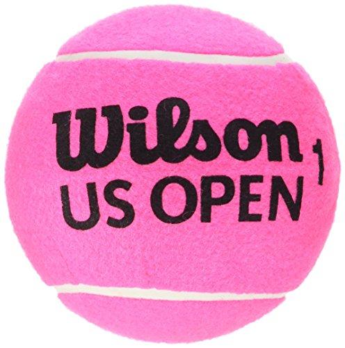 Wilson Balle de Tennis, US Open 5 Mini Jumbo, Rose, 12 cm, Gros Calibre, Idéale en Décoration ou pour Signer des Autographes, WRT1415PKXB