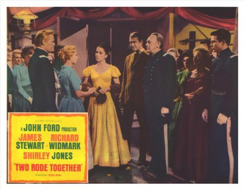 Two Rode Together Plakat Movie Poster (11 x 14 Inches - 28cm x 36cm) (1961) E