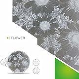 Solar Screen 8,18€/m² Fenster Folien Set Selbstklebende Milchglasfolie Flower 61cm Breite Folie Fensterfolie