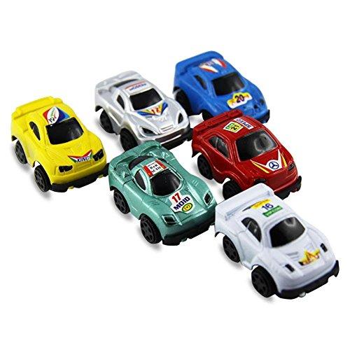 48 x Bunter Rennwagen Mini Racer l sehr kleines Rennauto Spielzeugauto