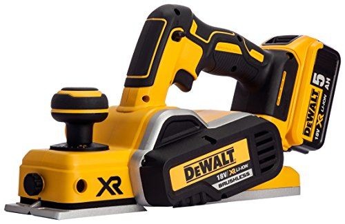DEWALT DCP580P2-GB 18 V Li-Ion 82 mm Brushless Planer Cordless - Yellow