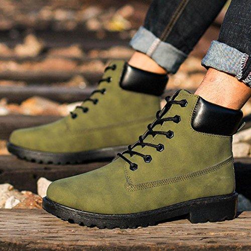 Transer® Herren Warm Weich Mokassins Casual Künstliche PU+Plastik Schuh (Bitte achten Sie auf die Größentabelle. Bitte eine Nummer größer bestellen. Vielen Dank!) Armeegrün