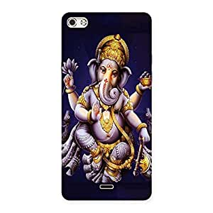 Delighted Dancing Ganesha Back Case Cover for Micromax Canvas Silver 5