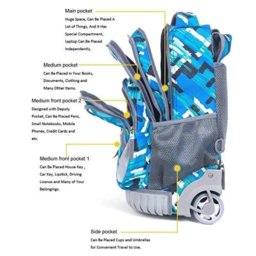 """Preisvergleich Produktbild Kylinllx Trolley Rucksack Gepäck Leichte Büchertasche Kleine Griffbox Reisetasche 18""""Trolley Bag (Farbe : Style C)"""