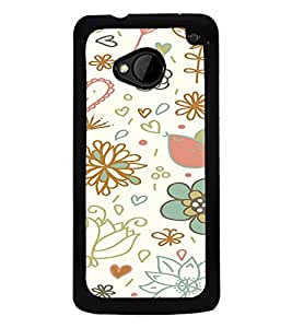 ifasho Designer Phone Back Case Cover HTC M7 :: HTC One M7 ( White Tiger Print )