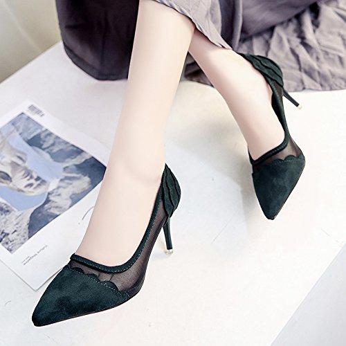 Con Green Donna Punta Moda Scarpe Alla A Fine Estate Single Lgk Sandali Da  Shallow amp 4e6073665a5