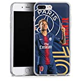 DeinDesign Coque en Silicone Compatible avec Apple iPhone 7 Plus Étui Silicone Coque Souple Paris Saint-Germain Produit sous Licence Officielle PSG Neymar Jr