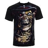 Ripleys Clothing Espiral Direct Unisex-Camiseta Steam Punk Sense Muñeco Gótico/Calavera Todos los tamaños, Schwarz - Schwarz, Large