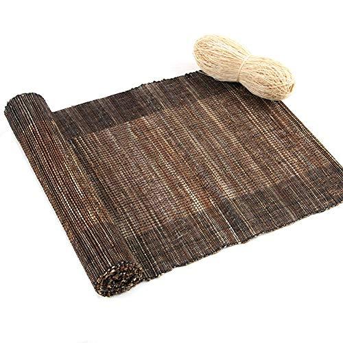 Runner per tavola rotolo di runner da tavolo in tela di juta marrone, decorazione della tovaglia resistente al calore naturale fatta a mano per l'agriturismo (size : 30cm x 200cm (12