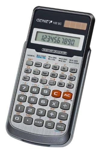 Taschenrechner Genie 102SC 139 Funktionen einfache Bedienung, Verpackungseinheit: 2 Stück