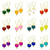 #3: Kiwi Kreation 12 Pairs Of Handmade Multi Color Earrings For Girls