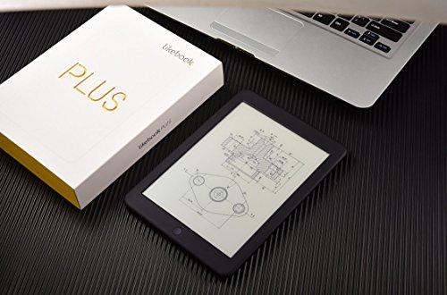 Mica House Likebook plus E-Reader-Schwarz, 7.8'' Carta Touch Screen, 300PPI, Einstellbare Frontlicht, Eingebaut hörbar 16 GB