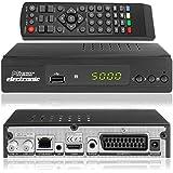 Micro Electronics m380 Plus, full HDTV, receptor satélite digital, incluye cable HDMI (HDTV, DVB-S2, HDMI, SCART, LAN, USB 2.0, full HD 1080p) [preprogramado], negro