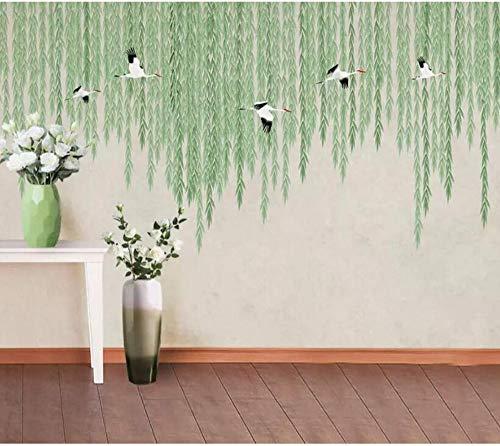 Vlies Leinwand 3d wallpaper handgemalte warme frühling kran moderne tapeten für wohnzimmer schlafzimmer tv wand dekor, 250 * 175 cm ()