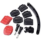 XCSOURCE® 14 In 1 Kit Helmet Extention Accessory Arm Self Photo Curved Adhesive Mount Sticky Srews for GoPro Hero 1 2 3 3+ OS96