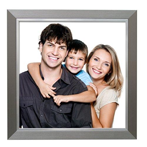 Deknudt Frames S41ND1 Cadre Photo avec Filet Résine Argent 18 x 24 cm