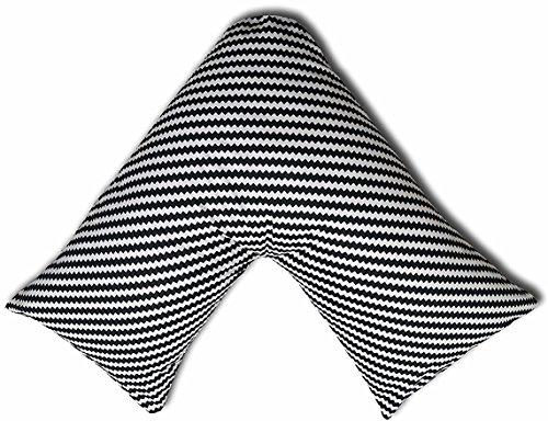 JaaZ Textile 100% algodón percal _ patrón 8_ impreso V forma de almohada casos ideal para espalda...
