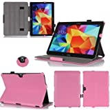 Funda Samsung Galaxy Tab S 8.44G/LTE rosa Ultra Slim piel estilo con Multis Stand–Funda Luxe–Carcasa para Samsung Galaxy Tab S 8,4pouces–Accesorios Tirador xeptio: Exceptional Case.