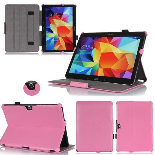 Rosa Custodia Pelle Ultra Slim per Samsung Galaxy Tab 4 10.1 pollici - Case Funda Cover protettiva Galaxy Tab 4 10 1 Tablet Wifi/4G/LTE (PU Pelle - Rosa/Pink) - XEPTIO accessori