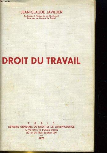Droit du travail par Jean Claude Javillier