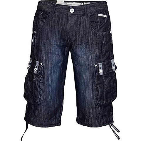 Crosshatch Player 16 Short Jeans Style De Cargo Longueur Genou