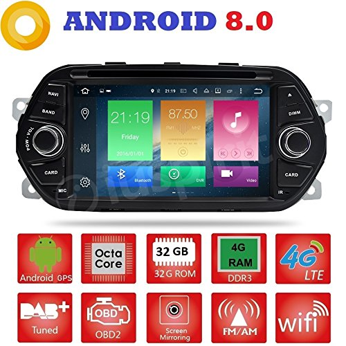 Android 8.0 GPS DVD USB SD Wlan Bluetooth Mirrorlink Autoradio Navi Fiat Typ Fiat Egea 2015, 2016, 2017 -
