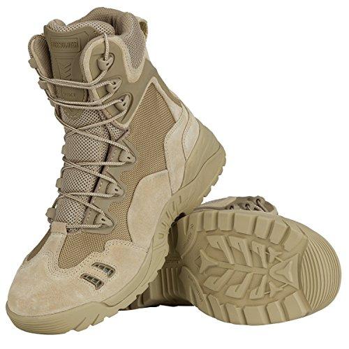 Free Soldier Outdoor Herren 15,2cm Wandern Schuhe kratzfest Desert Tactical Duty Work Stiefel Sand Color