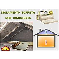 La Lana mineral y cristal rollo mq.15,6 aislamiento térmico coibent solaio techo