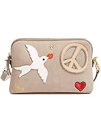 f30b1ead015 Tory Burch Crossbody Bag Suede Leather Peace Love