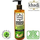 Khadi Global Ginger Garlic Anti Dandruff Shampoo with Raw Honeyand Matcha Green Tea