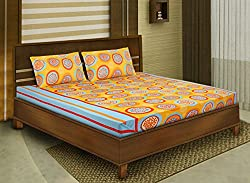 Bombay Dyeing double bedsheet with 2 pillow covers-Cardinal-Yellow