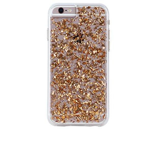 Case-Mate Karat Case für Apple iPhone 6 Plus / 6S Plus - einzigartige Schutzhülle [Echte 24K Blattgold Highlights | Transparent | Metall Knöpfe] - CM033542 (rose gold) (24k Gold Iphone 6)