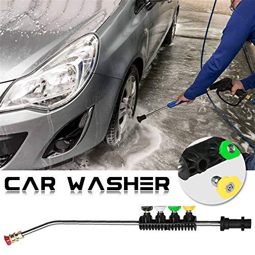Palatable Für karcher k Serie hochdruck Auto waschen wasserpistole schneeschaum lanze lang Gebogene Stange 1/4 schnell Einsatz lüfter düse für Auto Waschmaschine -