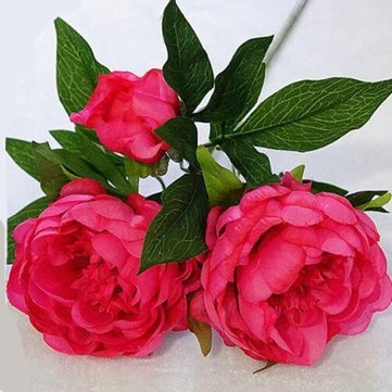 Generic Artificial Silk Peony Flowers 3 Heads
