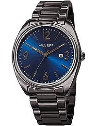 Akribos XXIV Men's Quartz Stainless Steel Casual Watch, Color Grey (Model: AK957GNBU)