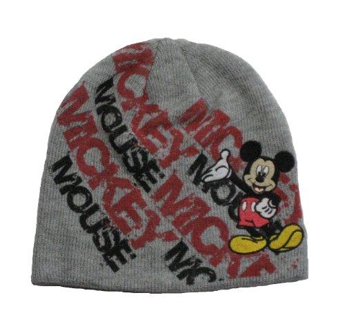 Disney Mickey Mouse Winter Mütze grau, Gr. 52 (Mickey Mouse Mützen)